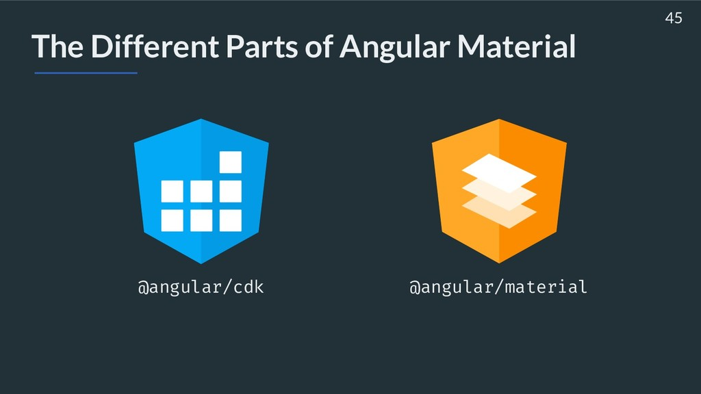 The Different Parts of Angular Material 45 @ang...