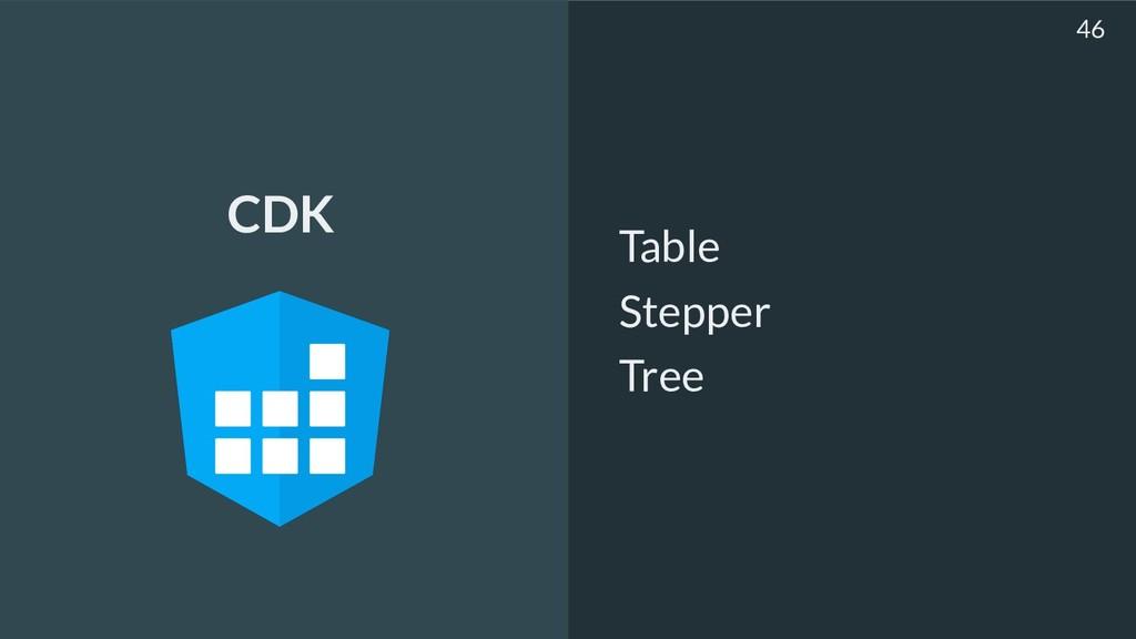 Table Stepper Tree 46 CDK