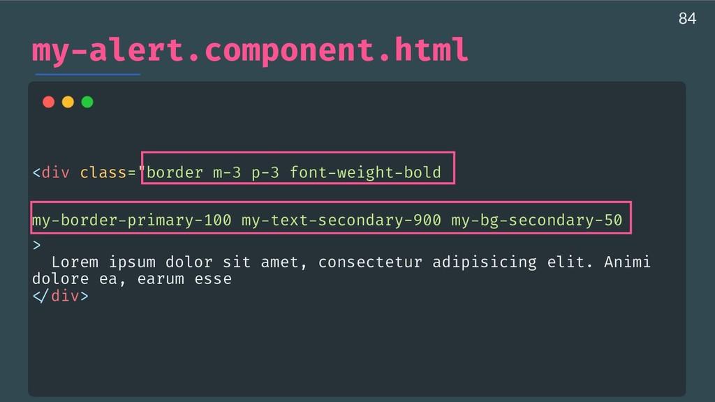 "my-alert.component.html <div class=""border m-3 ..."
