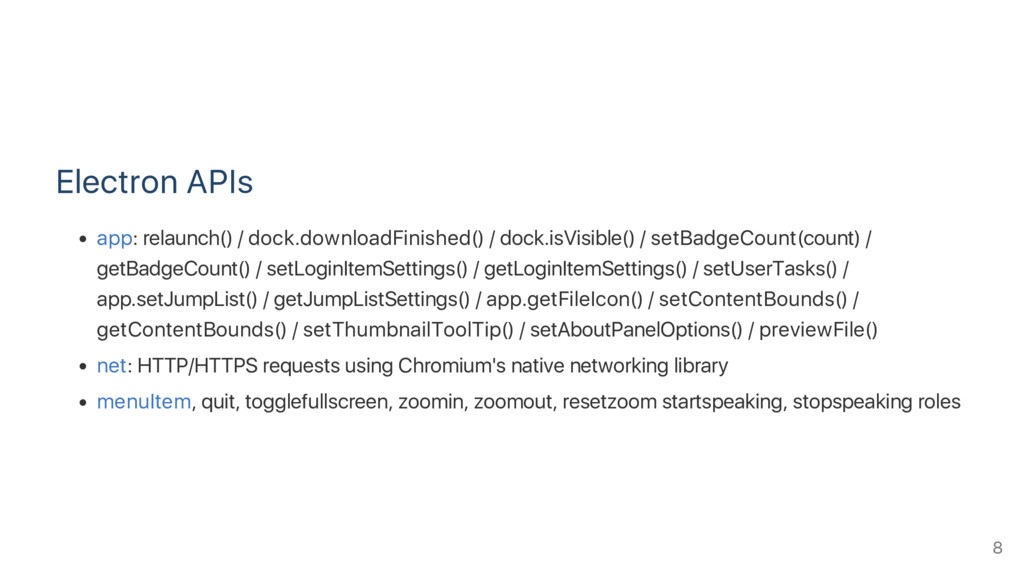 Electron APIs app: relaunch() / dock.downloadFi...