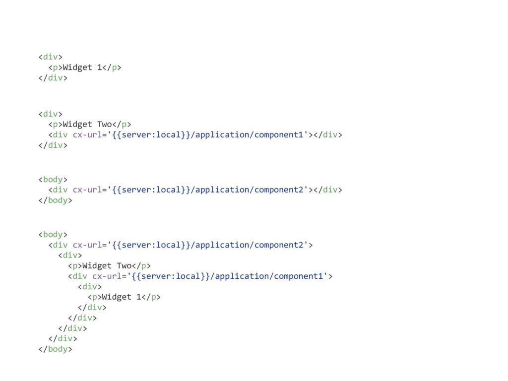 <div> <p>Widget 1</p> </div> <div> <p>Widget Tw...