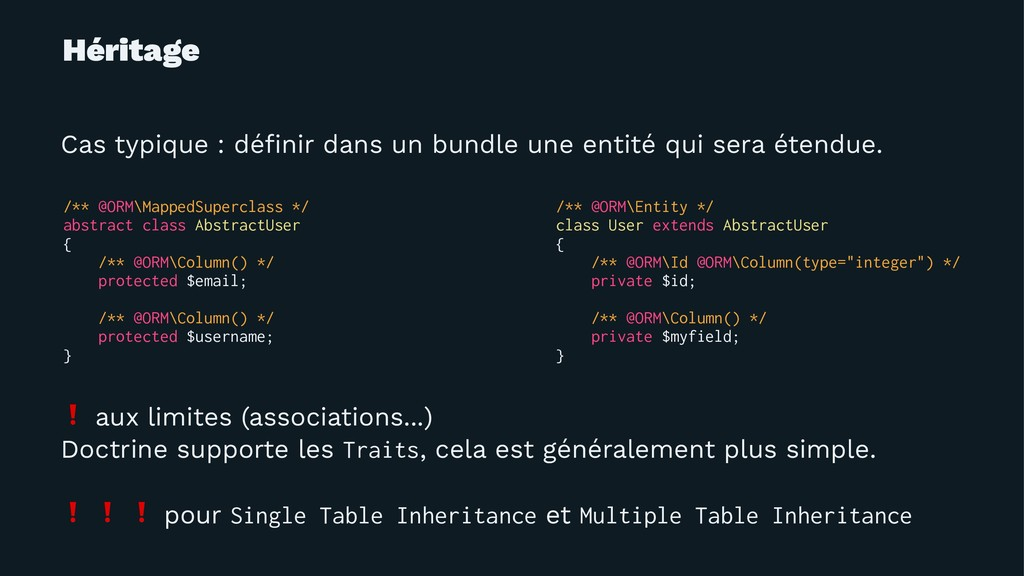 Héritage Cas typique : définir dans un bundle un...