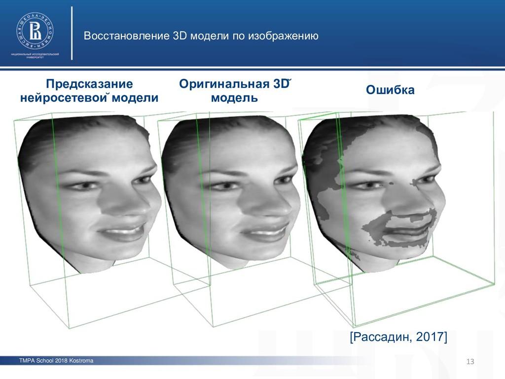 TMPA School 2018 Kostroma Восстановление 3D мод...