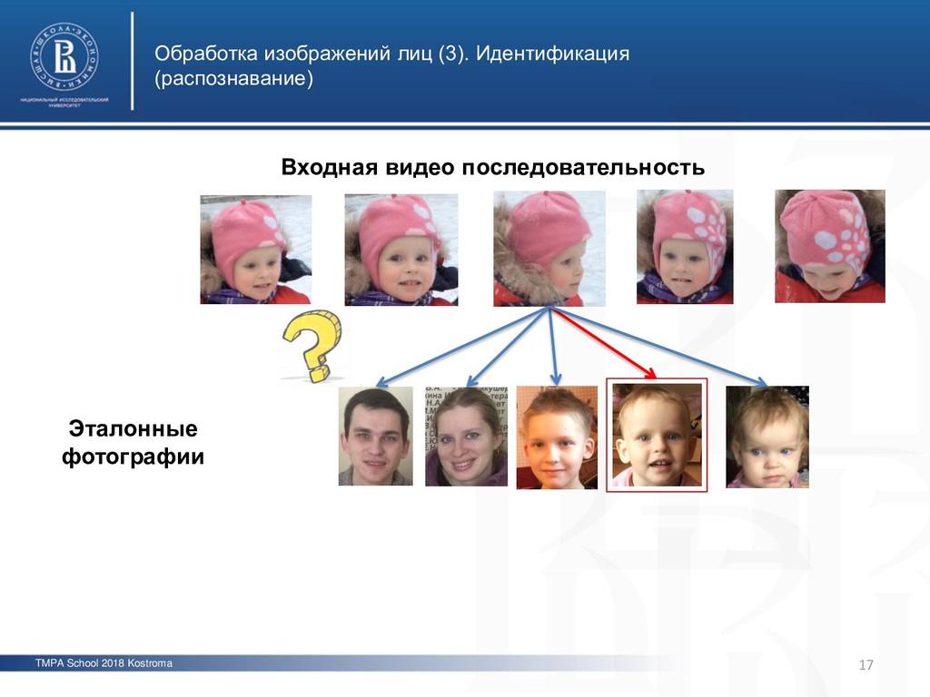 TMPA School 2018 Kostroma Обработка изображений...