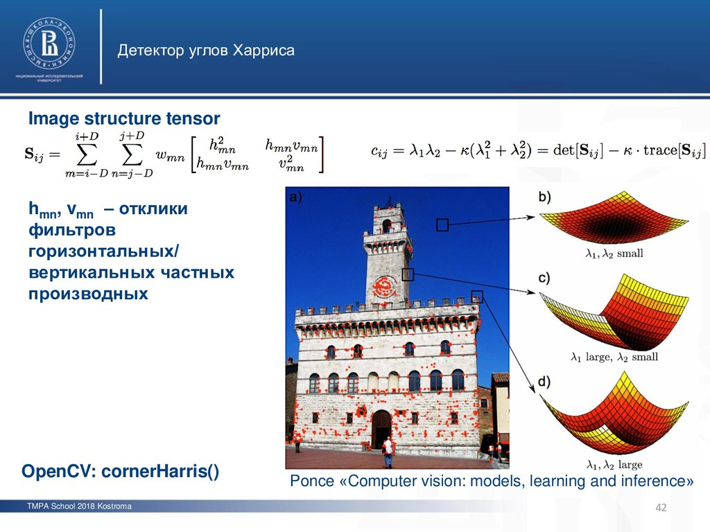 TMPA School 2018 Kostroma Детектор углов Харрис...