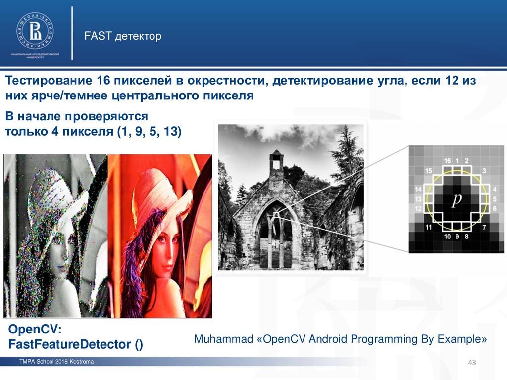 TMPA School 2018 Kostroma FAST детектор 43 Тест...