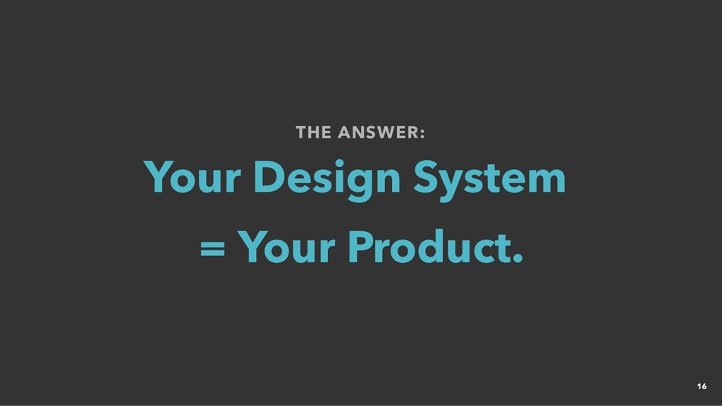 THE ANSWER: THE ANSWER: Your Design System Your...