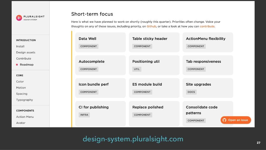 design-system.pluralsight.com 27