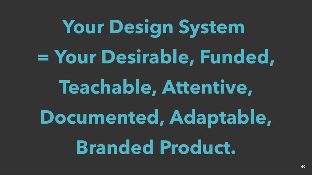 Your Design System Your Design System = Your = ...