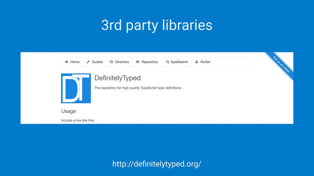 3rd party libraries http://definitelytyped.org/