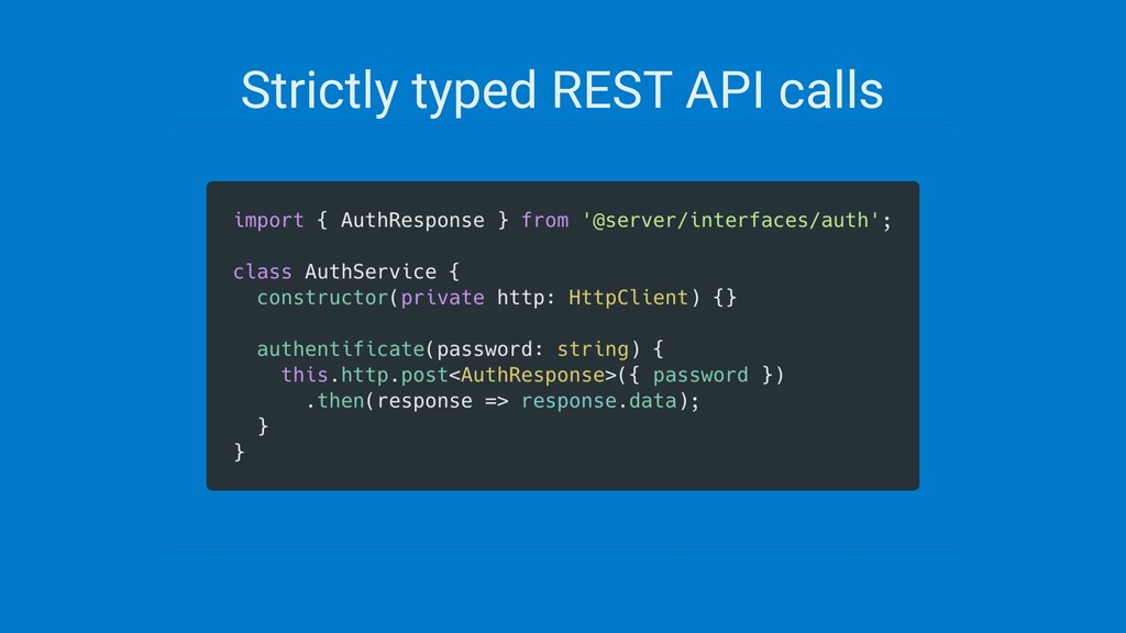 Strictly typed REST API calls