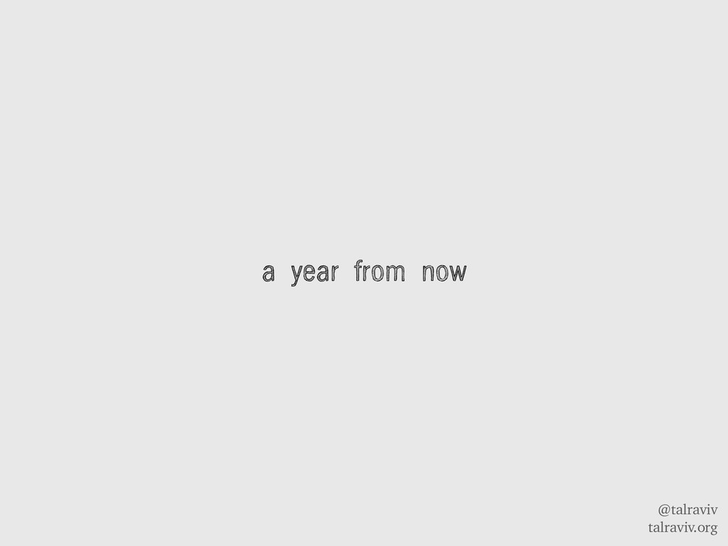 @talraviv talraviv.org a year from now