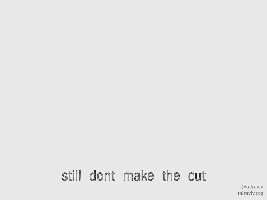 @talraviv talraviv.org still dont make the cut