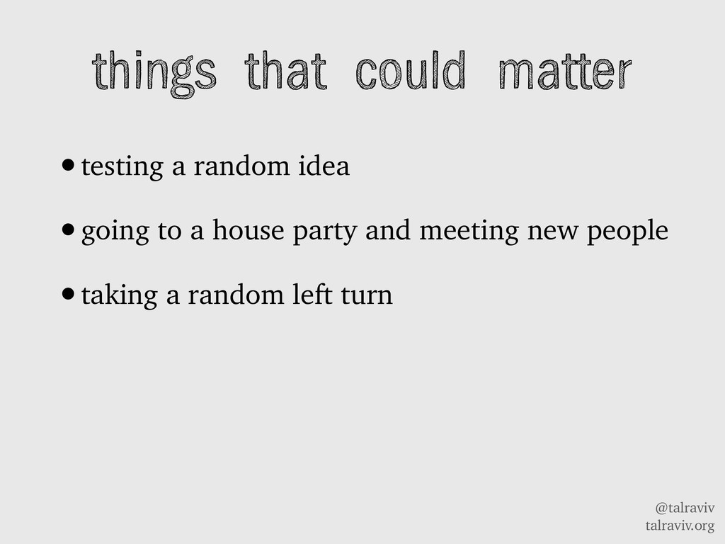 @talraviv talraviv.org things that could matter...