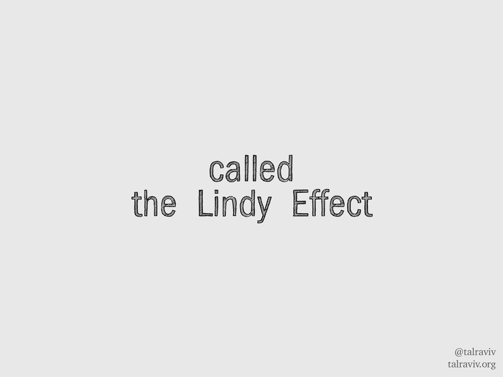 @talraviv talraviv.org called the Lindy Effect