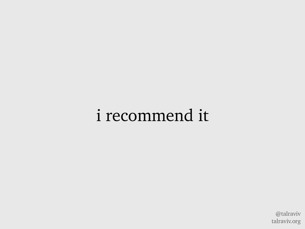 @talraviv talraviv.org i recommend it