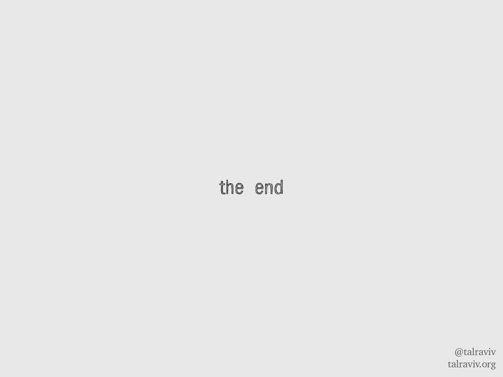 @talraviv talraviv.org the end