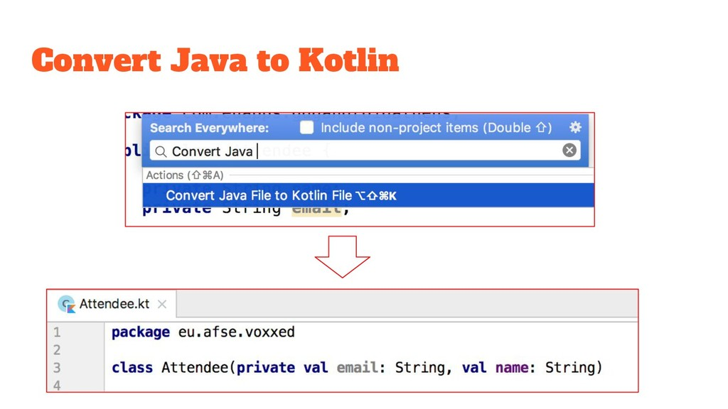 Convert Java to Kotlin