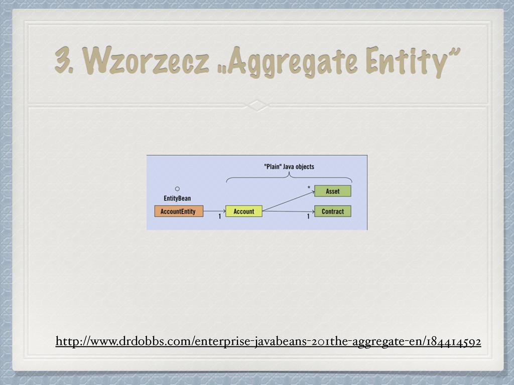 """3. Wzorzecz """"Aggregate Entity"""" http://www.drdob..."""