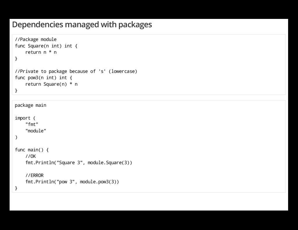 Dependencies managed with packages //Package mo...