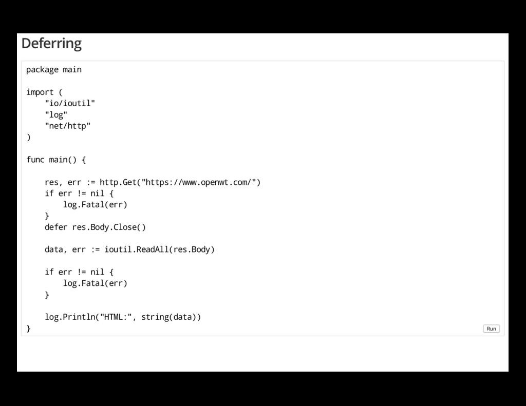 "Deferring package main import ( ""io/ioutil"" ""lo..."