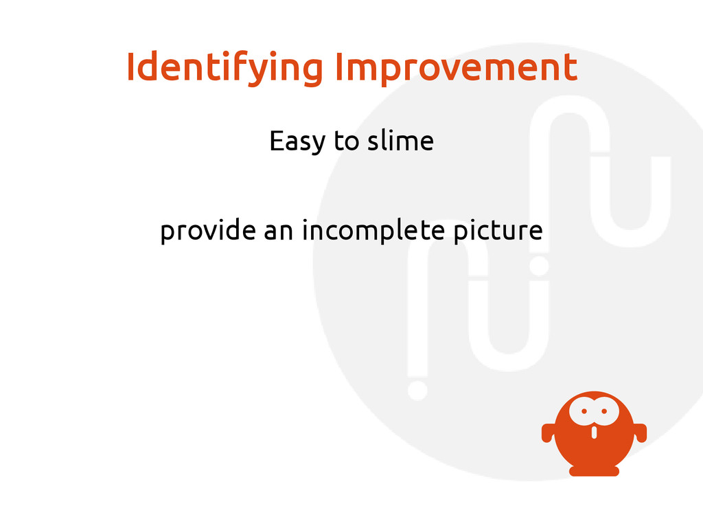 Identifying Improvement Easy to slime provide a...