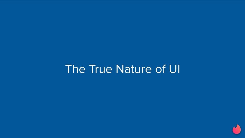 The True Nature of UI