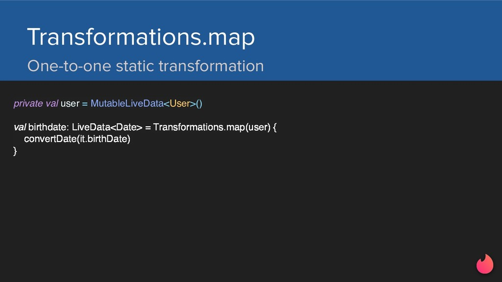 One-to-one static transformation Transformation...