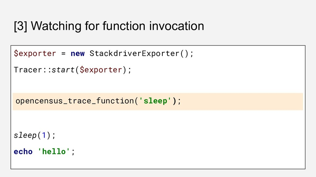 [3] Watching for function invocation $exporter ...