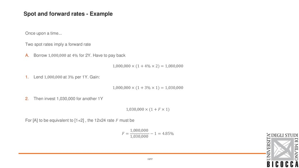 Spot and forward rates - Example Once upon a ti...