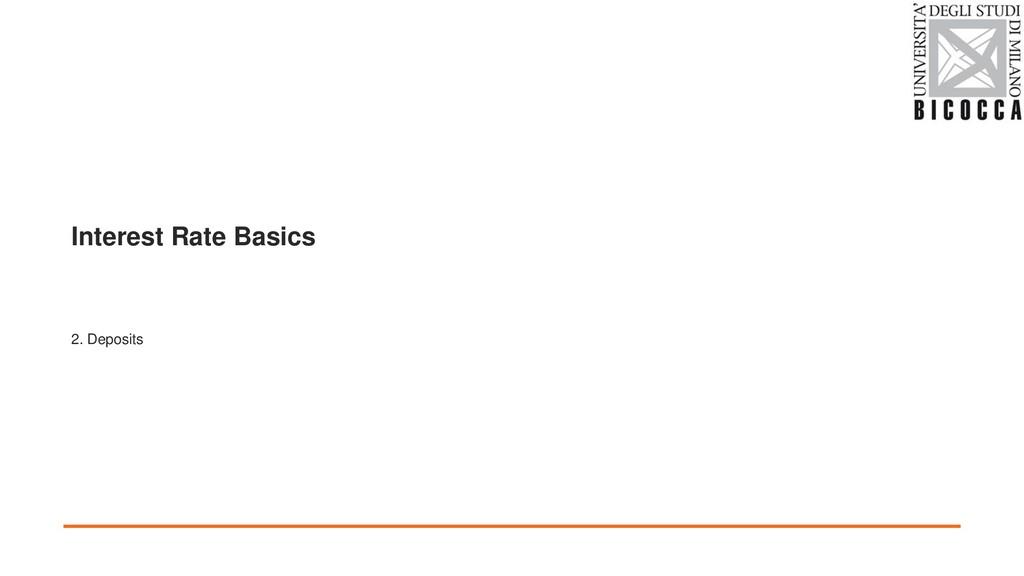 Interest Rate Basics 2. Deposits