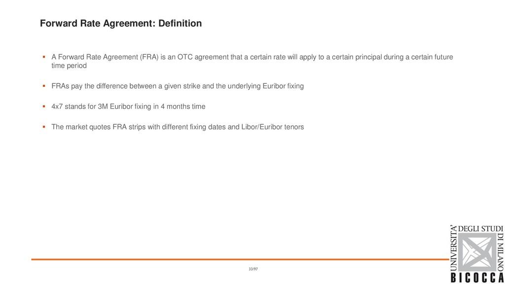 Forward Rate Agreement: Definition ▪ A Forward ...