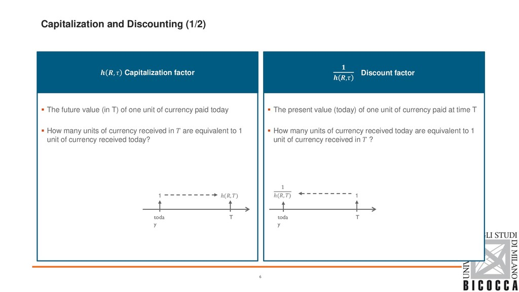 Capitalization and Discounting (1/2)  , Capital...