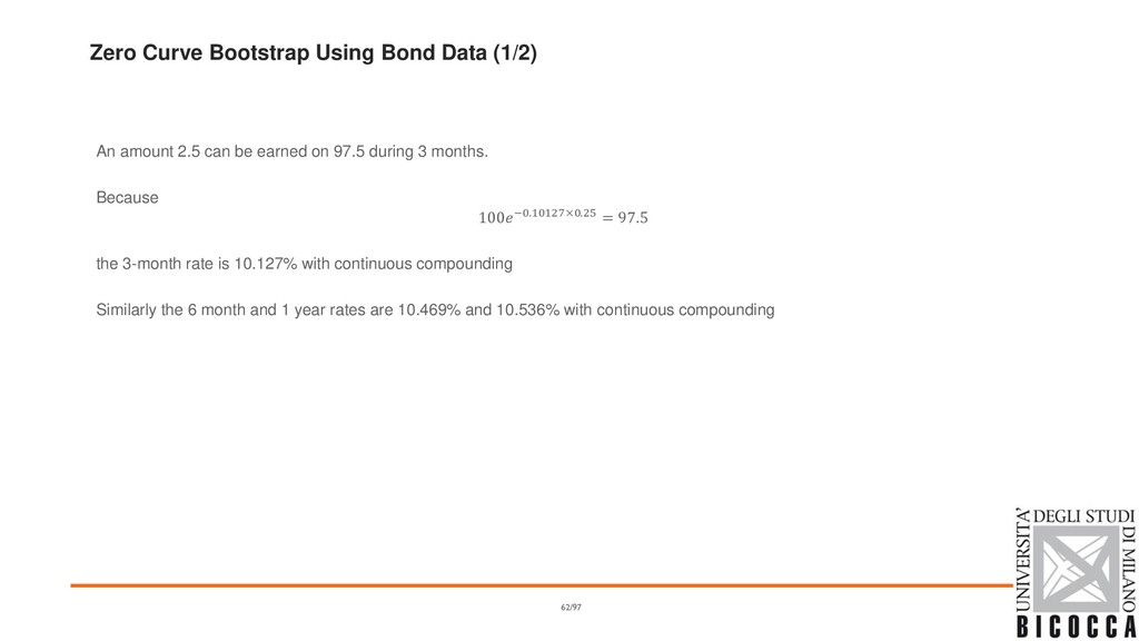 Zero Curve Bootstrap Using Bond Data (1/2) An a...
