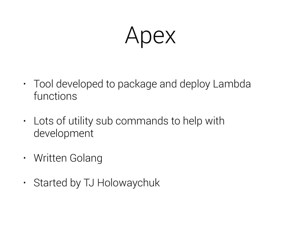 Apex • Tool developed to package and deploy Lam...