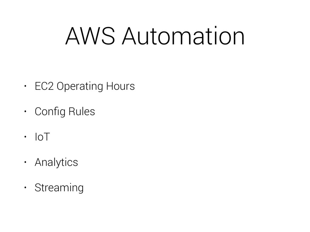 AWS Automation • EC2 Operating Hours • Config Ru...