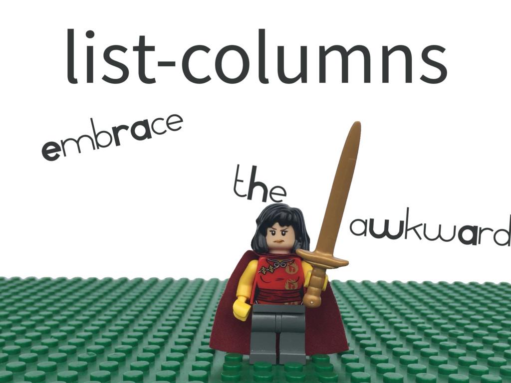 list-columns EmbRAce tHe aWkwArd