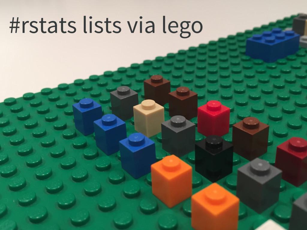 #rstats lists via lego