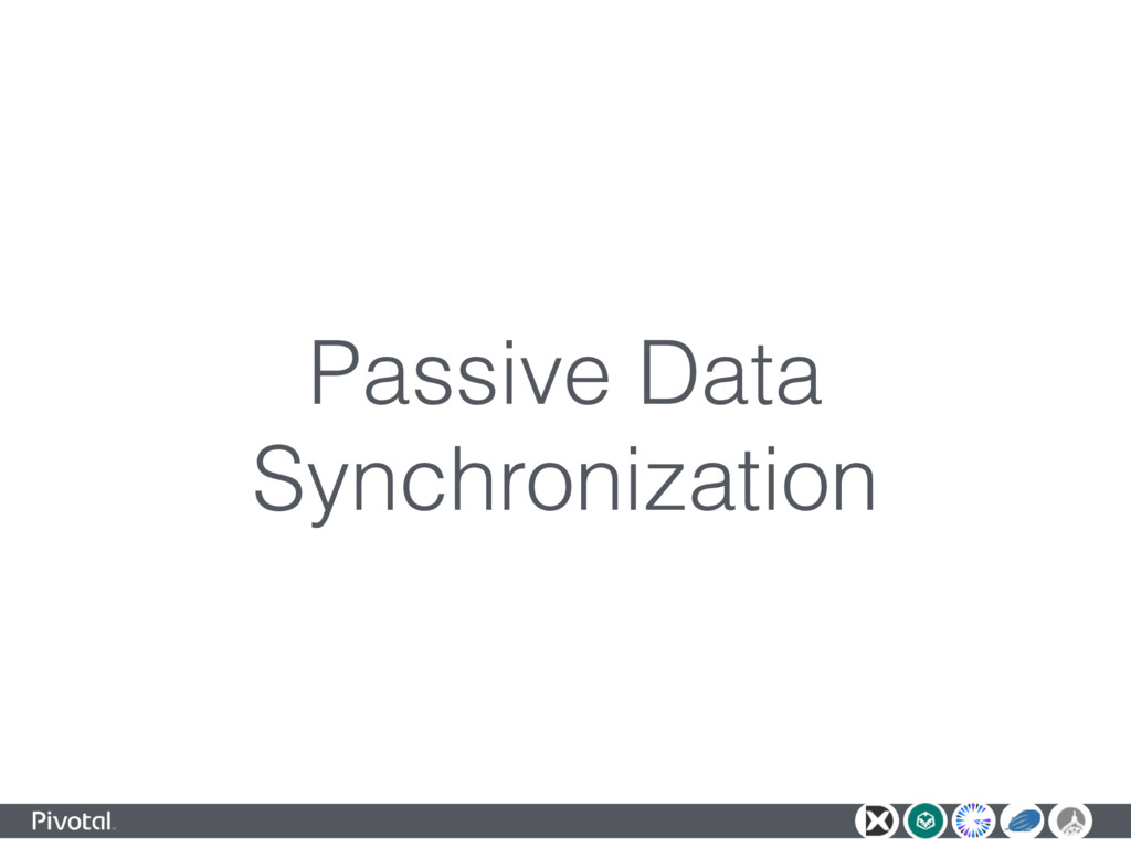 Passive Data Synchronization