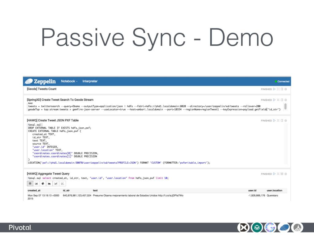 Passive Sync - Demo