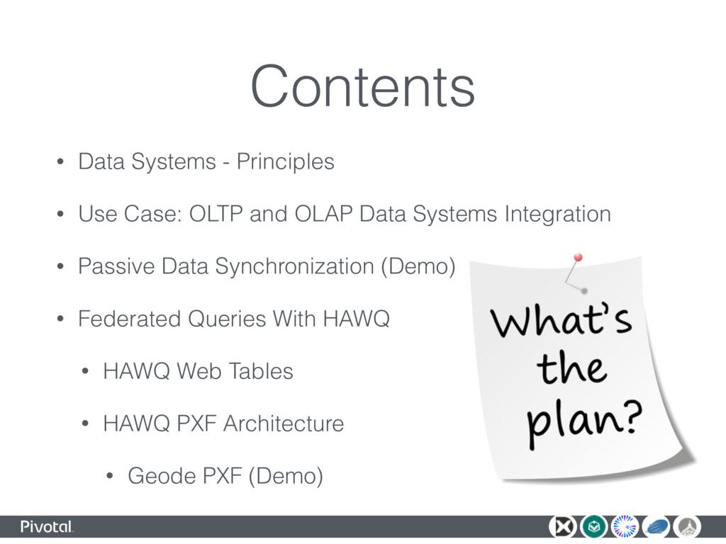 Contents • Data Systems - Principles • Use Case...