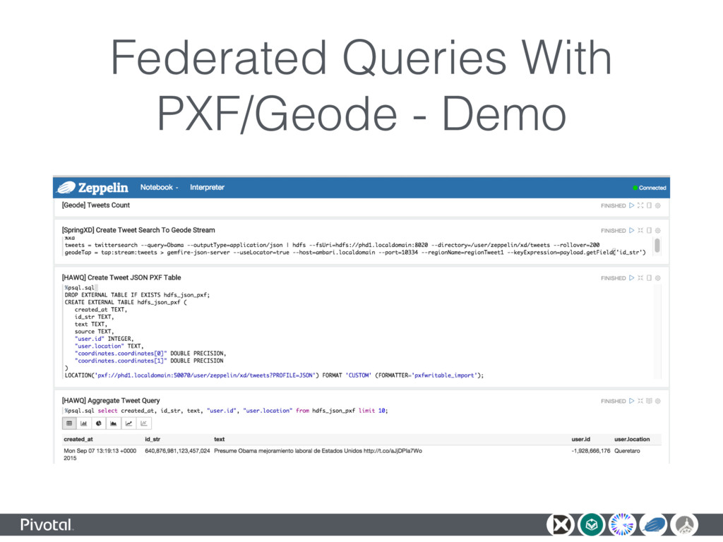 Federated Queries With PXF/Geode - Demo