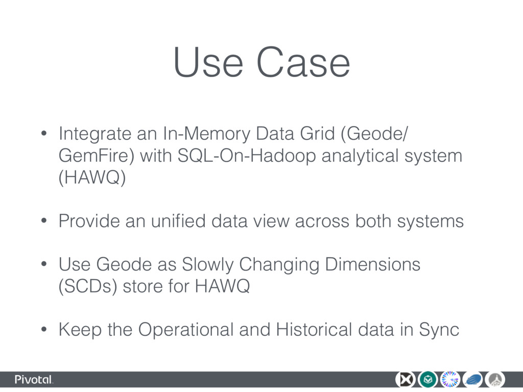 Use Case • Integrate an In-Memory Data Grid (Ge...