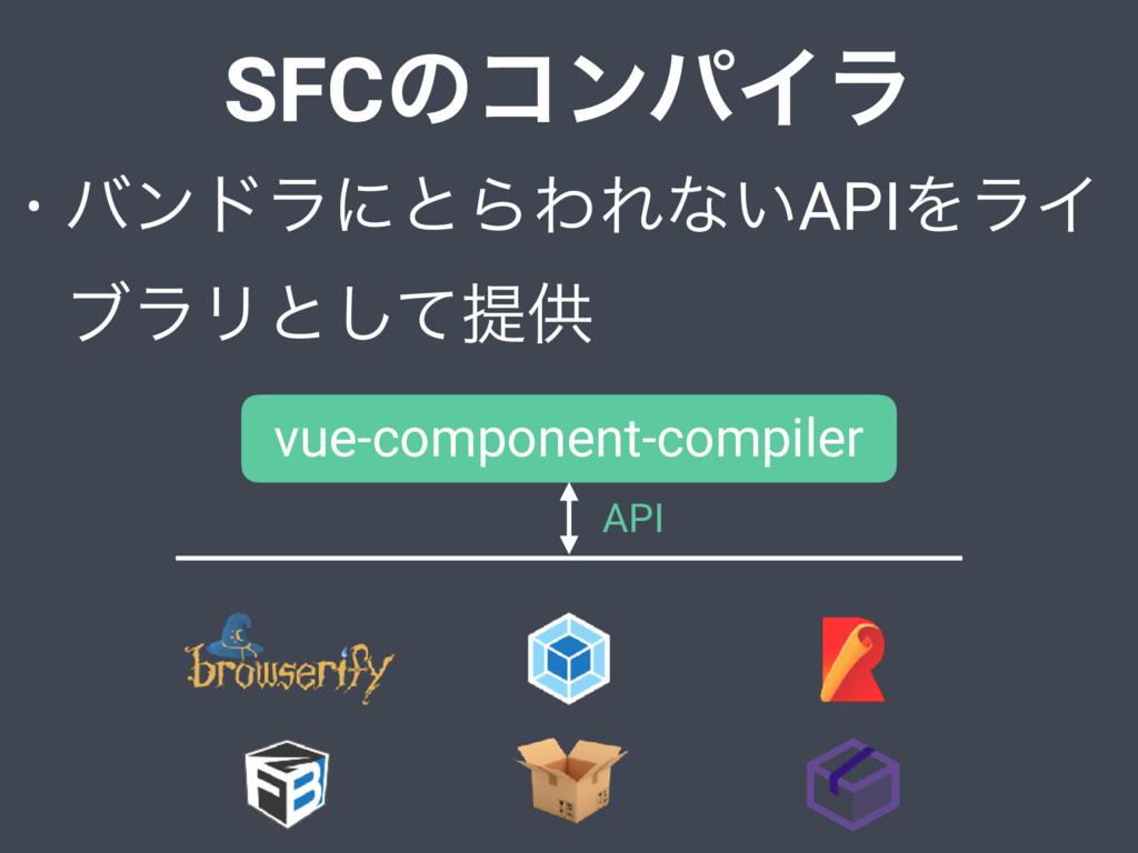SFCͷίϯύΠϥ • όϯυϥʹͱΒΘΕͳ͍APIΛϥΠ ϒϥϦͱͯ͠ఏڙ vue-comp...