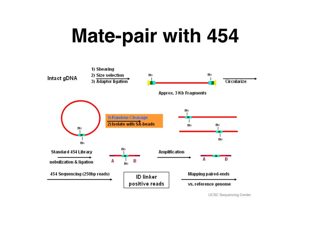 Mate-pair with 454 UCSC Sequencing Center