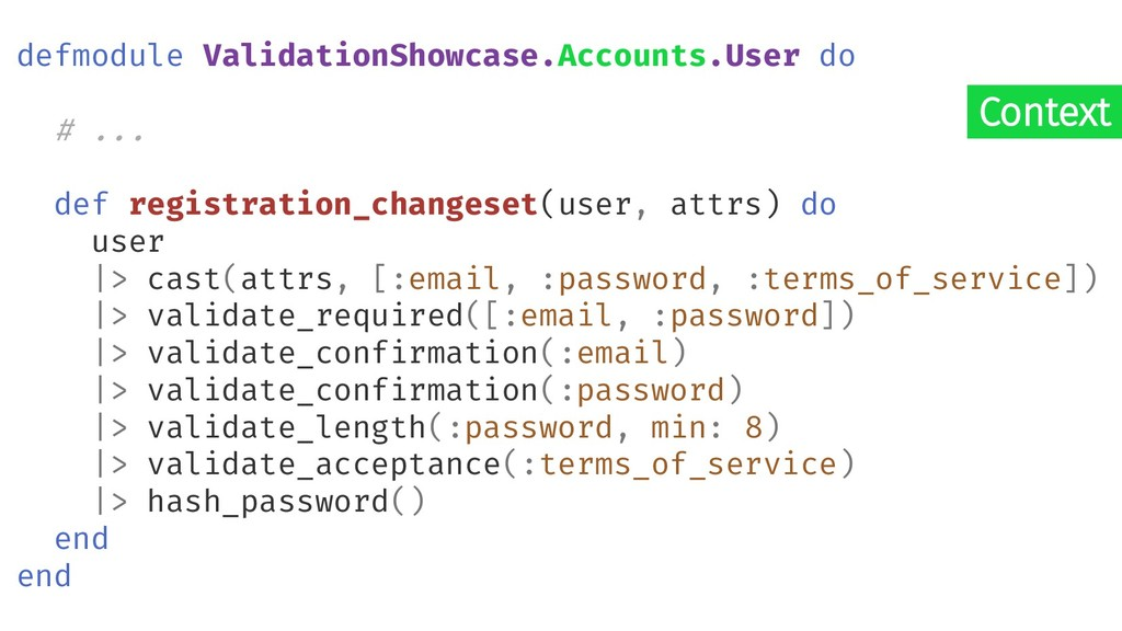 Context defmodule ValidationShowcase.Accounts.U...