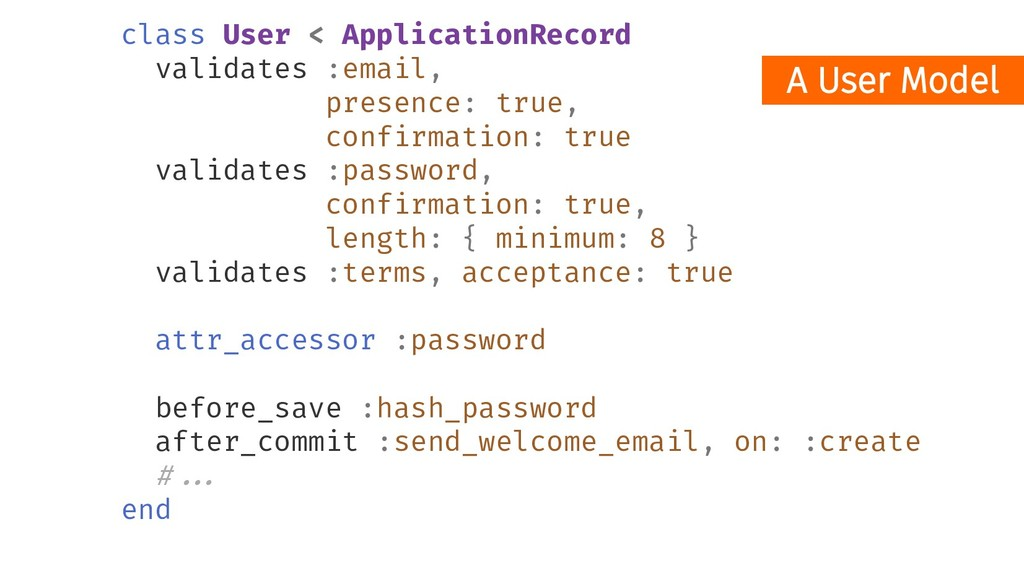 class User < ApplicationRecord validates :email...