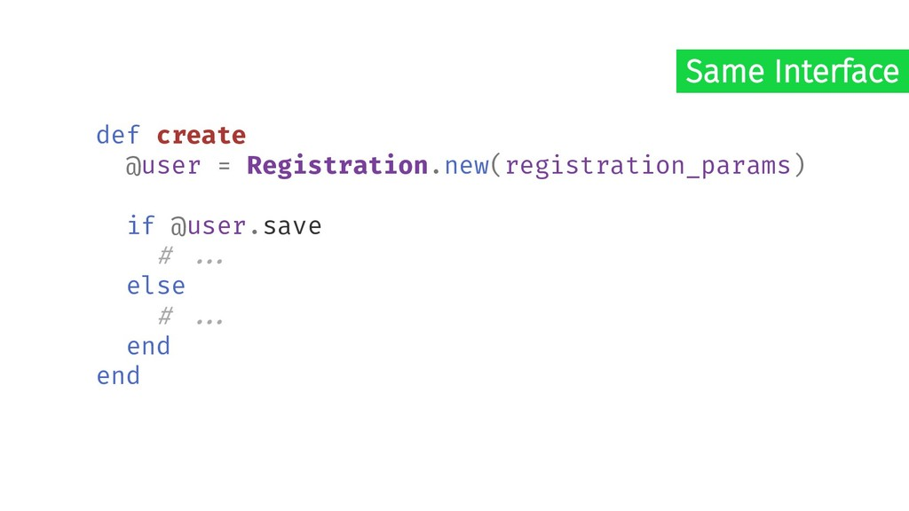 def create @user = Registration.new(registratio...