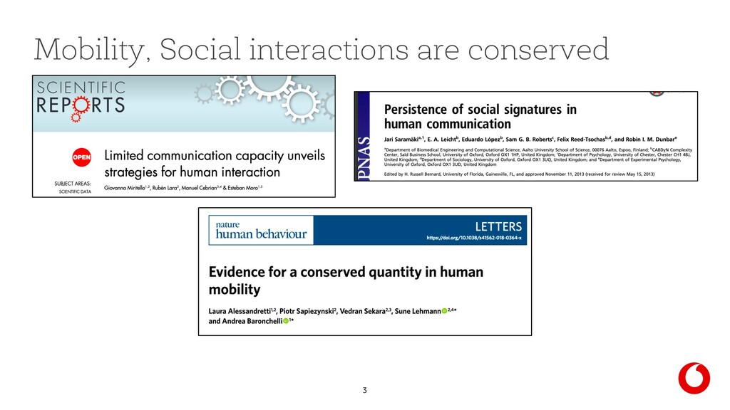 3 Mobility, Social interactions are conserved