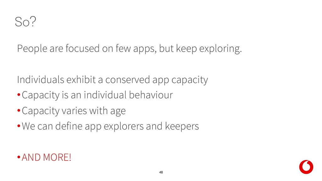 48 People are focused on few apps, but keep exp...